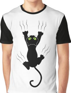 Funny Black Angry Cat T-Shirt I Love Cats Cute Graphic Tee  Graphic T-Shirt