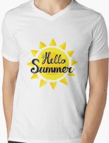 Hello Summer! Mens V-Neck T-Shirt
