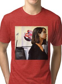 Looking left, 2011, 100-100cm, oil on canvas Tri-blend T-Shirt