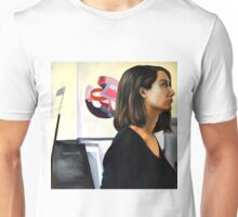 Looking left, 2011, 100-100cm, oil on canvas Unisex T-Shirt