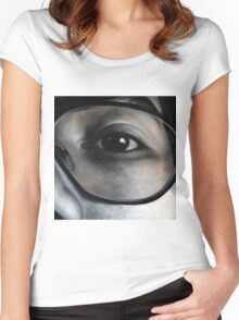 Lens, 100-100cm, 2010, oil on canvas Women's Fitted Scoop T-Shirt