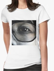 Lens, 100-100cm, 2010, oil on canvas Womens Fitted T-Shirt