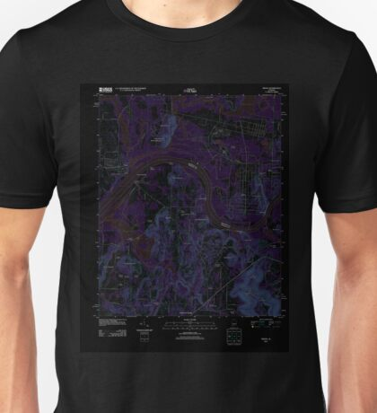 USGS TOPO Map Alabama AL Triana 20110921 TM Inverted Unisex T-Shirt