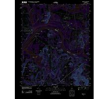 USGS TOPO Map Alabama AL Triana 20110921 TM Inverted Photographic Print