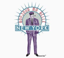 Bonjour ma belle New York by Francisco Evans ™ One Piece - Short Sleeve