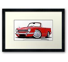 Triumph Herald 13/60 Red Framed Print