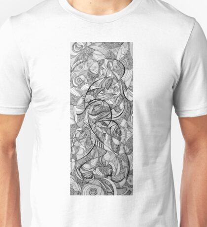 In the Twirling of Imagination, 2015, 20-50cm, ink on paper Unisex T-Shirt