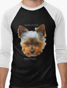 Printing dogs - Yorkshire Terrier Men's Baseball ¾ T-Shirt