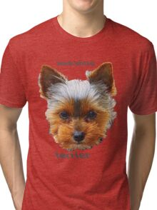 Printing dogs - Yorkshire Terrier Tri-blend T-Shirt