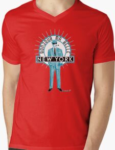 Bonjour ma belle New York by Francisco Evans ™ Mens V-Neck T-Shirt