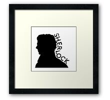 The name is Sherlock Framed Print