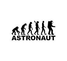 Evolution Astronaut Photographic Print