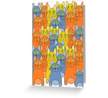 Thirty-One Kitty Cats Greeting Card