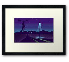 Night road Framed Print