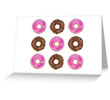 Chocolate & Strawberry Donuts Greeting Card