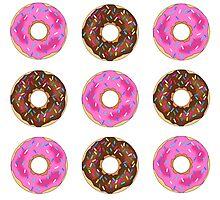 Chocolate & Strawberry Donuts Photographic Print