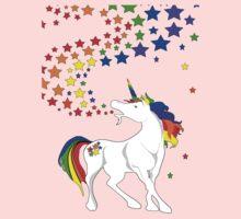 Gay Pride Unicorn Spewing Rainbows & Stars One Piece - Long Sleeve