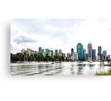 Brisbane City Skyline by Gaye G Canvas Print