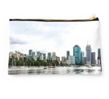 Brisbane City Skyline by Gaye G Studio Pouch