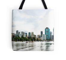 Brisbane City Skyline by Gaye G Tote Bag