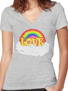 Marriage Equality, Rainbow Gay Pride, Equal Rights Swag Women's Fitted V-Neck T-Shirt