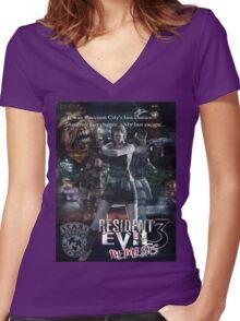 Resident Evil 3 Women's Fitted V-Neck T-Shirt