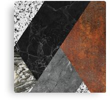 MARBLE, GRANITE AND RUSTED IRON ABSTRACT Canvas Print