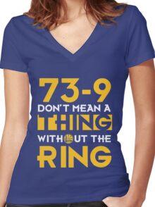 73-9 Women's Fitted V-Neck T-Shirt