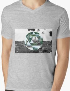 Abstract Cathedral Mens V-Neck T-Shirt