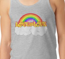 Gay Pride LOVE IS LOVE Rainbow, Pride Week Swag.  Tank Top