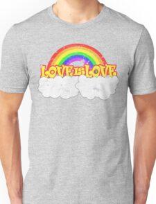 Gay Pride LOVE IS LOVE Rainbow, Pride Week Swag.  Unisex T-Shirt