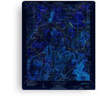 USGS TOPO Map Alabama AL Triana 305235 1951 24000 Inverted Canvas Print