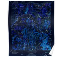 USGS TOPO Map Alabama AL Triana 305235 1951 24000 Inverted Poster