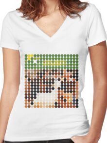 THE BEACH BOYS, PET SOUNDS, BENDAY DOTS Women's Fitted V-Neck T-Shirt