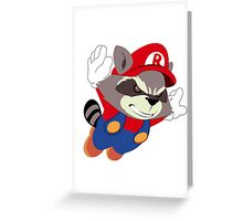 Super Raccoon Suit Greeting Card