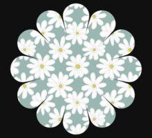 Bright Happy Daisies on Mint Kids Tee