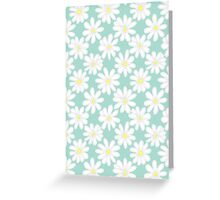 Bright Happy Daisies on Mint Greeting Card