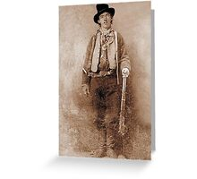 WANTED, Billy the Kid, Henry McCarty, William H. Bonney, Cowboy, American, Outlaw, Wild West Greeting Card