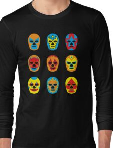 Lucha Libre • Mexican Wrestling Pop Masks Long Sleeve T-Shirt
