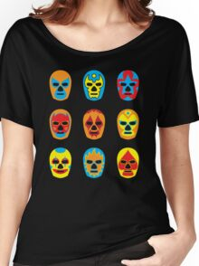 Lucha Libre • Mexican Wrestling Pop Masks Women's Relaxed Fit T-Shirt