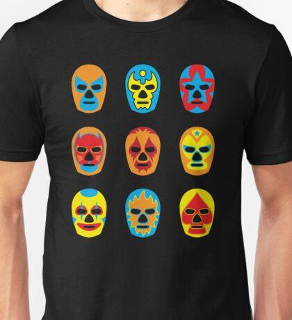 Lucha Libre • Mexican Wrestling Pop Masks Unisex T-Shirt