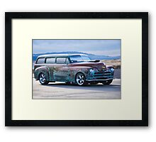 Plymouth 'Patina' Wagon Framed Print