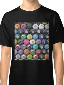 Colorful Spray Cans Wall Classic T-Shirt