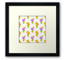 Pixel Flowers Framed Print