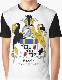 Steele Coat of Arms / Steele Family Crest Graphic T-Shirt