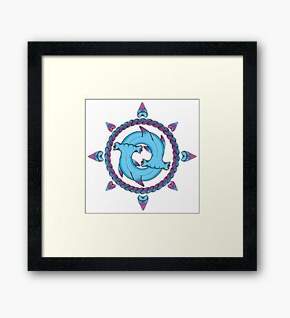 Shark Compass II Framed Print