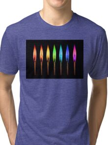 rainbow matches II Tri-blend T-Shirt