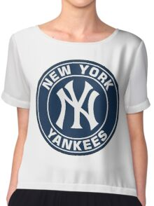 Yankees Chiffon Top