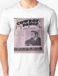 Johnny Cash & Guitar, 1950's Magazine Cover! close up! T-Shirt