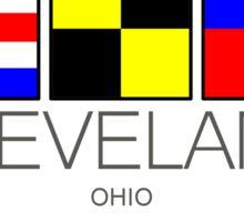 CLEVELAND OHIO NAUTICAL FLAG CLE LAKE ERIE Sticker